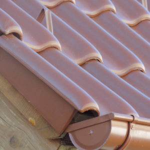 Keramická strešná krytina Röben monza plus medená engoba - realizácia strechy žlab
