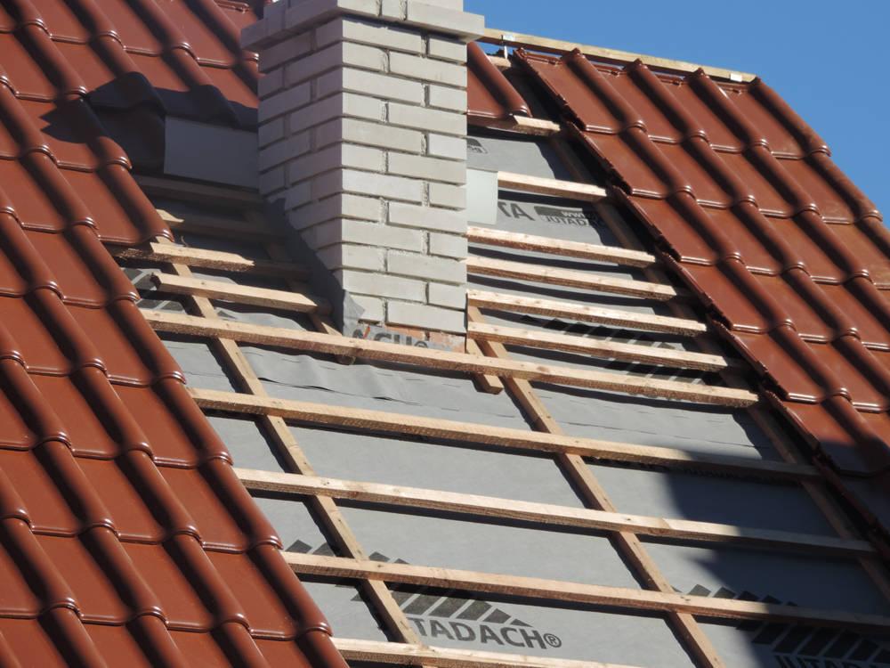 Keramická strešná krytina Röben monza plus medená engoba - realizácia strechy pokládka škridly