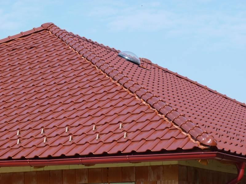 Keramická strešná krytina Röben piemont gaštanová glazúra - realizácia strechy