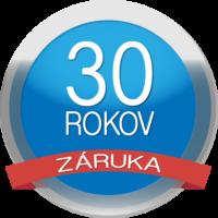 Logo 30 rokov záruka na škridlu